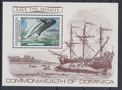XG-AB953 DOMINICA IND - Marine Life, 1983 Save The Whales MNH Sheet