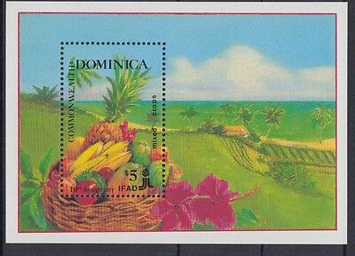 XG-AC003 DOMINICA IND - Fruits, 1988 Agriculture Development Fund MNH Sheet