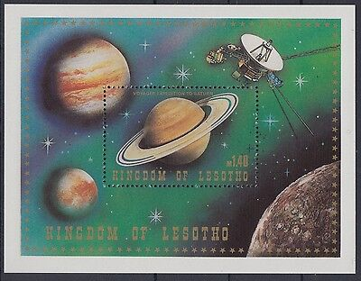 XG-AD384 LESOTHO - Space, 1981 Saturn, Voyager MNH Sheet