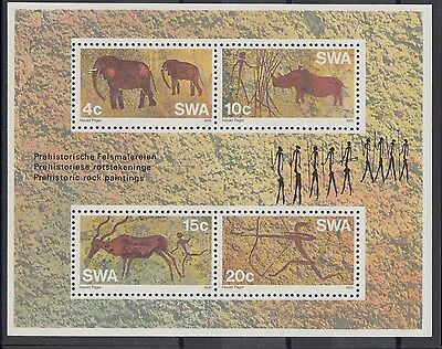 XG-AC036 S. WEST AFRICA IND - Archaeology, 1976 Rock Paintings MNH Sheet