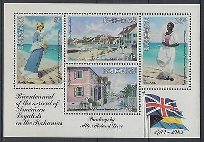 XG-AD783 BAHAMAS IND - Paintings, 1983 Americans Arrival Anniversary MNH Sheet