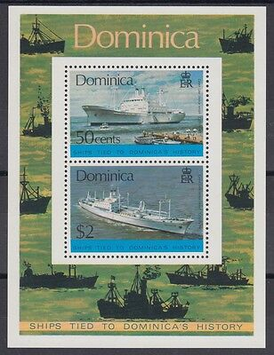 XG-AB911 DOMINICA IND - Ships, 1975 Dominican History MNH Sheet