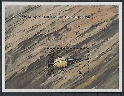 XG-AC019 DOMINICA IND - Insects, 1988 And Reptiles Of The Caribbean MNH Sheet