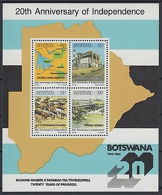 XG-AC916 BOTSWANA - Independence, 1986 Anniversary, Farm Animals MNH Sheet