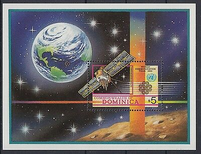 XG-AB954 DOMINICA IND - World Communication Year, 1983 Space MNH Sheet