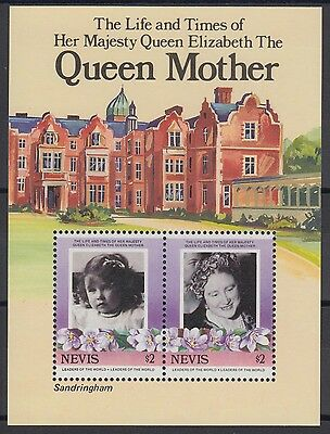 XG-AD573 NEVIS IND - Royalty, 1985 Queen Mother 85Th Birthday MNH Sheet