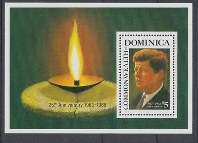 XG-AC011 DOMINICA IND - Kennedy, 1988 Anniversary, Music, Band Playing MNH Sheet
