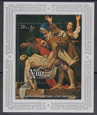 XG-AD644 NIUE IND - Paintings, 1978 Easter, Caravaggio MNH Sheet
