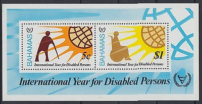 XG-AD777 BAHAMAS IND - Intl. Year Of The Disabled, 1981 People MNH Sheet