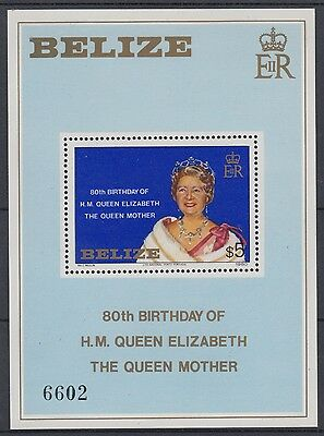 XG-AD817 BELIZE - Royalty, 1980 Queen Mother 80Th Birthday MNH Sheet