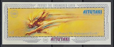 XG-AC904 AITUTAKI IND - Paintings, 1990 World Environmental Protection MNH Sheet