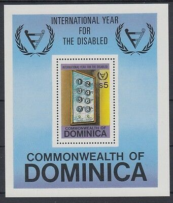 XG-AB944 DOMINICA IND - Intl. Year Of The Disabled, 1981 People MNH Sheet