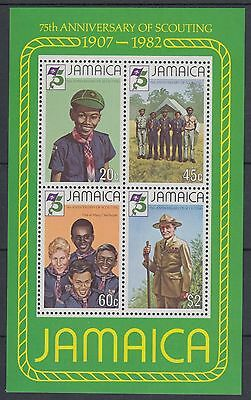 XG-AC938 JAMAICA IND - Boy Scouts, 1982 Scouting 75Th Anniversary MNH Sheet