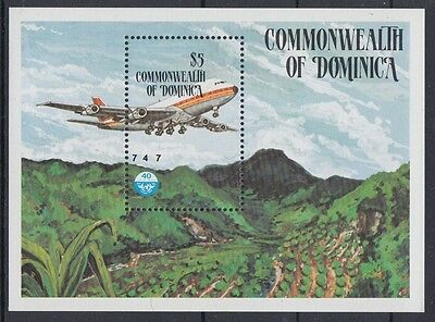 XG-AB964 DOMINICA IND - Aviation, 1984 Boeing 747 MNH Sheet