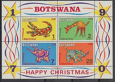 XG-AC906 BOTSWANA - Christmas, 1970 Toys, Animals MNH Sheet