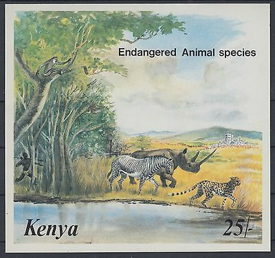 XG-AC971 KENYA - Wild Animals, 1985 Hunter, Endangered Species MNH Sheet