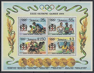 XG-AC941 JAMAICA IND - Olympic Games, 1984 Los Angeles '84 MNH Sheet