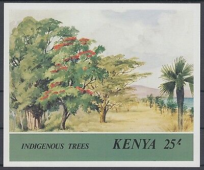 XG-AC972 KENYA - Trees, 1985 Indigenous, Nature, Flora MNH Sheet