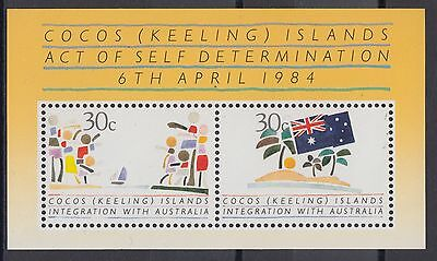 XG-AD908 COCOS KEELING ISLANDS - Flags, 1984 Act Of Self Determination MNH Sheet
