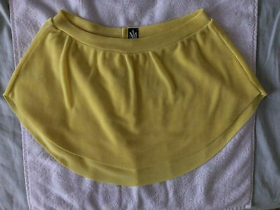 Abigail Mentzer Designs ballet or jazz skirt sz Small Canary Yellow lemony color