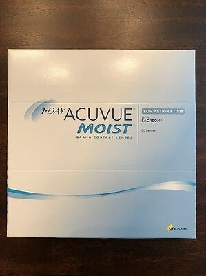 1-Day Acuvue Moist Contact Lenses for Astigmatism D -2.25 *BNIB* 90 Lenses
