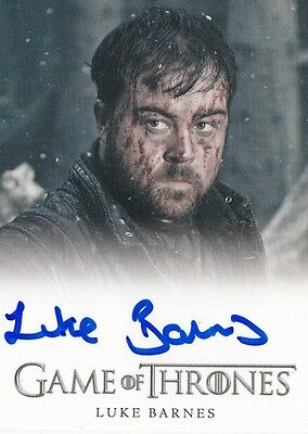 Game Of Thrones Season 6 - Luke Barnes (Rast) Autograph Fb Limited