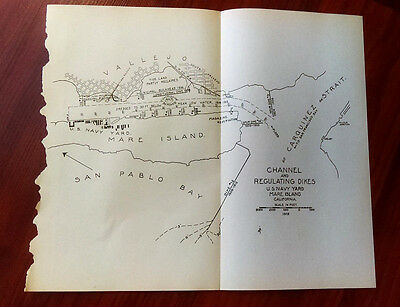 1915 Channel and Regulating Dikes U.S. Navy Yd Mare Island CA San Pablo Bay MAP