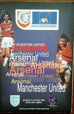 Arsenal V Man Utd 9/8/1998 Charity Shield