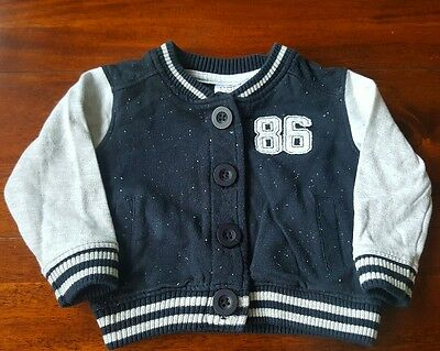 Baby boy 3-6 months blue and gray jacket (A120)