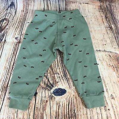 Beau Loves Baby Boys Pants Blue With Black Mask Print Size 18-24months