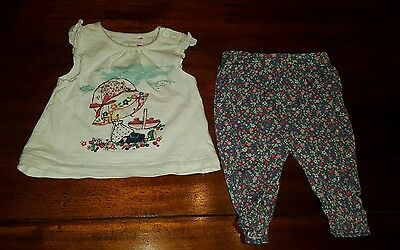 Baby girls 0-3 months TU leggings and top outfit ( A138)