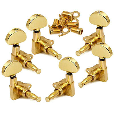 6 x Guitar Tuning Pegs String Chrome Tuners Machine Heads Acoustic Electric Part