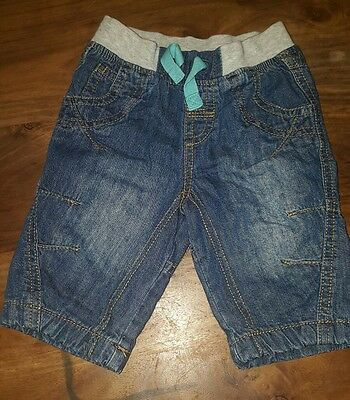 Baby boys 0-3 months Next soft jeans  (A109)