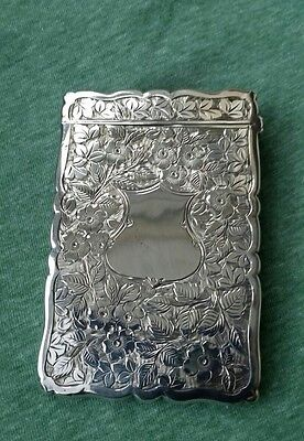 Antique Silver Card Case, Birmingham 1903