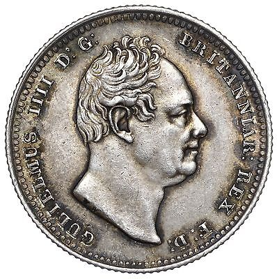 1834 Shilling - William Iv British Silver Coin - Superb