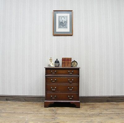 Campaign Style Small Oak Drawers, Quality Solid Oak Drawers, Bedside Chest