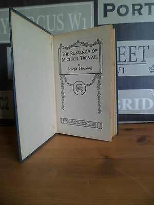 The Romance of Michael Trevail Joseph Hocking 1920 Popular Edition Vintage TBLO