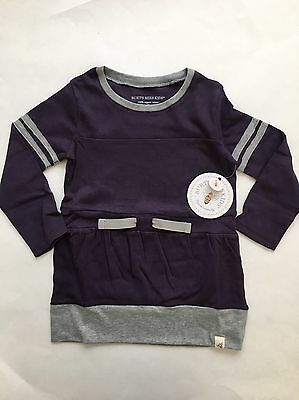 NEW Burts Bees Toddler Girl Organic Cotton Long Sleeve Top Purple Shirt Size 4T