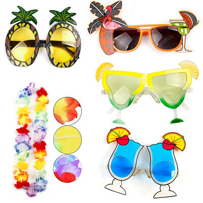 Hawaiian Sunglasses Glasses Beach Luau Party Fancy Costume Dress Hen Party Decor