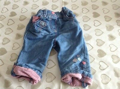 Baby girls cropped jeans age 9-12 months
