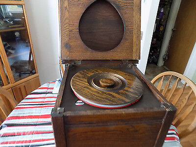 Antique Wooden Oak Potty Commode Enameled Chamber Pot Chair Box Toilet Seat