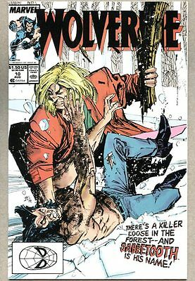 Wolverine #10-1989 nm- 10th issue of the 1st regular series Sabretooth