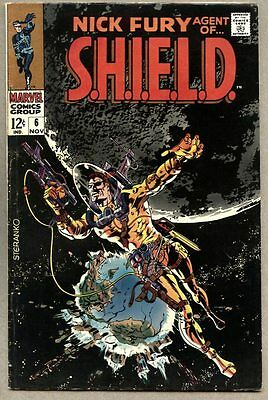 Nick Fury Agent Of S.H.I.E.L.D. #6-1968 fn- SHIELD Jim Steranko Frank Springer
