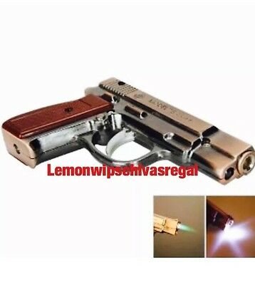 Limited Edition Gas Jet Lighter Metal  With Torch Windproof U.K. Seller