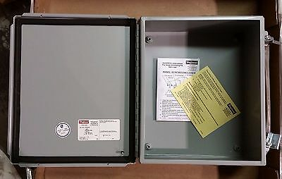 "New Hoffman A-12108Ch Hinged Jic Box Electrical Enclosure 12"" X 10"" X 5"""