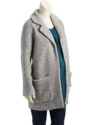 Women's Old Navy Heather Gray Maternity Textured Cocoon Coat - Size Xs