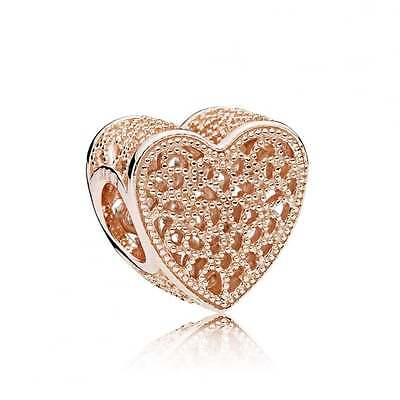 PANDORA Rose Gold Filled with Romance Charm 781811 Genuine Authentic