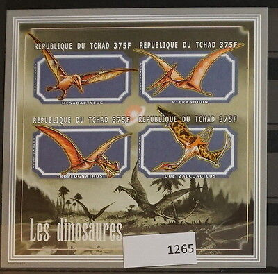 S0 1265 Dinosaurs Chad MNH 2001 Pterodactyloidea Imperforated