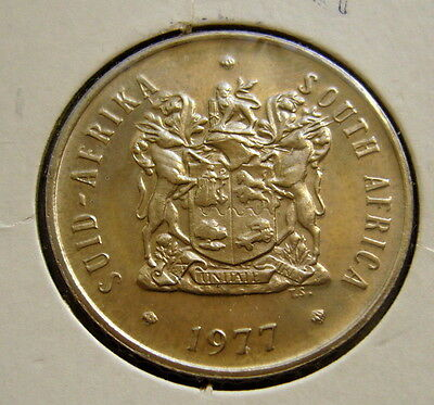 1977 South Africa 20 Cents Coin Unc