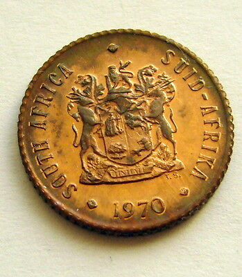 1970 South Africa 1/2 Cent Unc